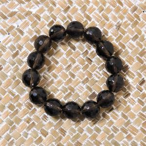 Bracelet Quartz Fumé 14mm