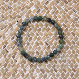 Bracelet Agate Mousse 6mm
