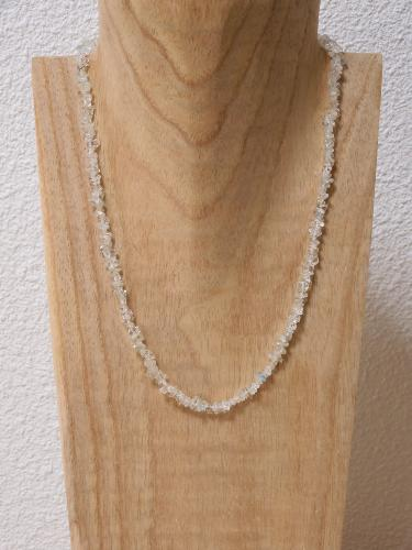 Collier Topaze Blanche chips