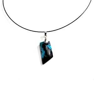 Pendentif Argent Chrysocolle