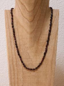 Collier Grenat ovale