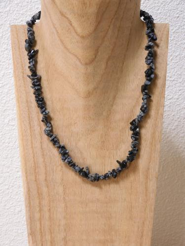 Collier Obsidienne Neigeuse baroque